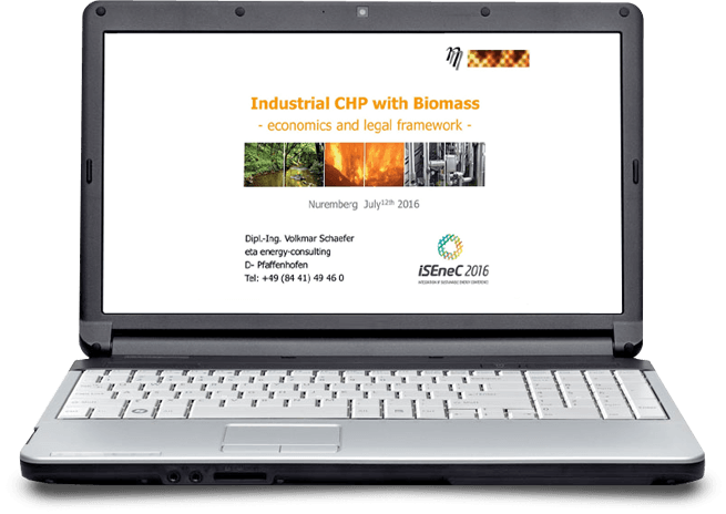 Vortrag CHP with Biomass - eta Energieberatung