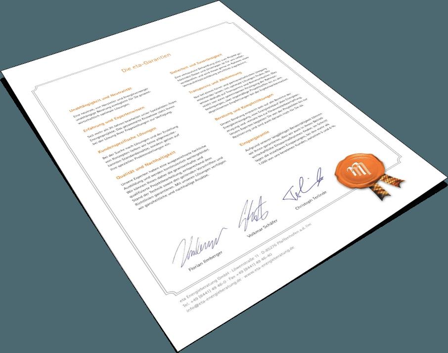 eta-Garantien - eta Energieberatung