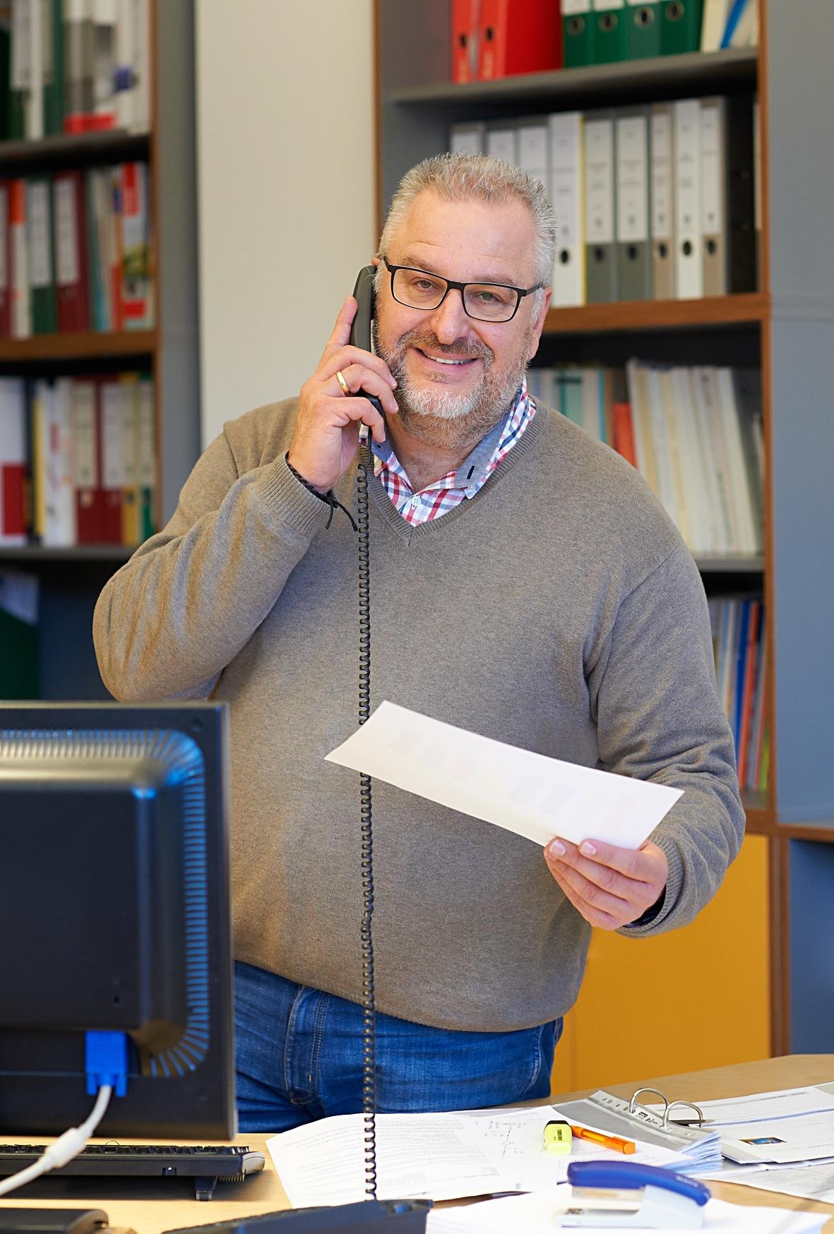 Bereichsleiter Bernhard Negele