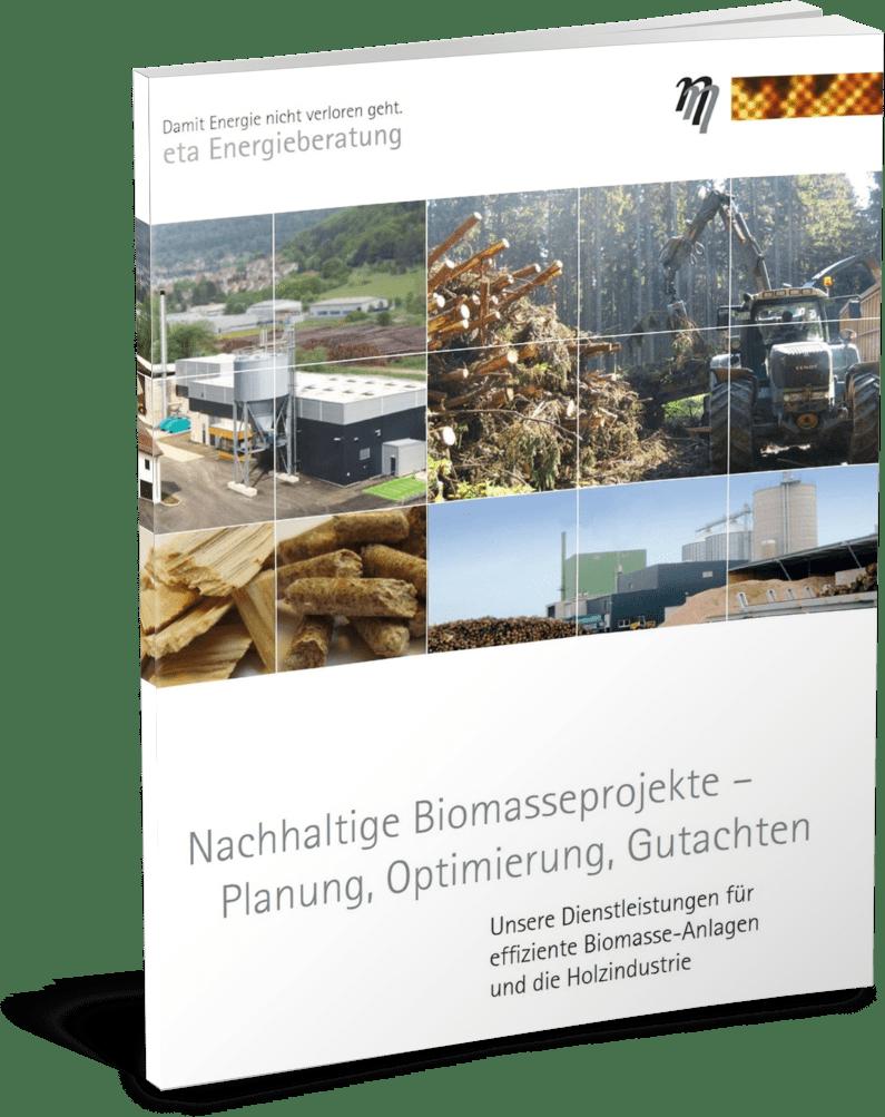 Deckblatt Broschüre Biomasse - eta Energieberatung