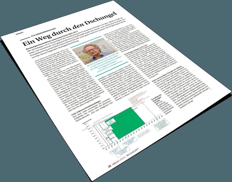 Deckblatt Holzkurier 2017 - eta Energieberatung