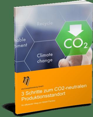 Deckblatt Ratgeber CO2-neutraler Produktionsstandort - eta Energieberatung