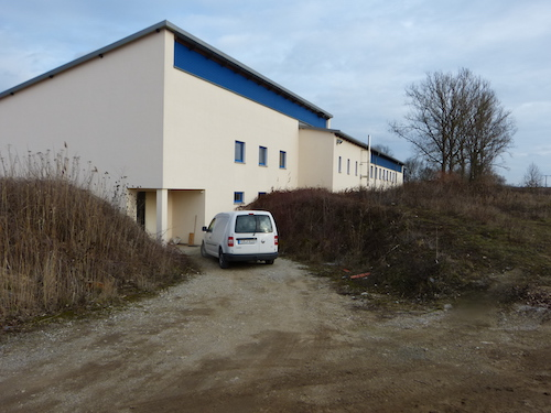 Biomasseheizwerk in Energiecontainer
